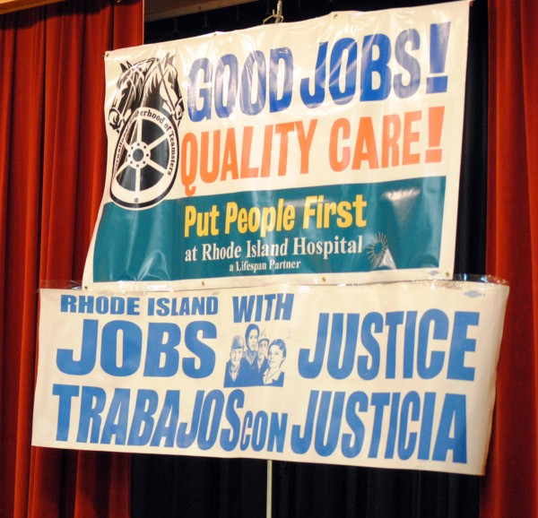 Speak-Out for Good Jobs & Quality Care at RI Hospital 001
