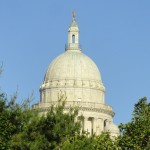 The State House dome from North Main Street. (Photo by Bob Plain)