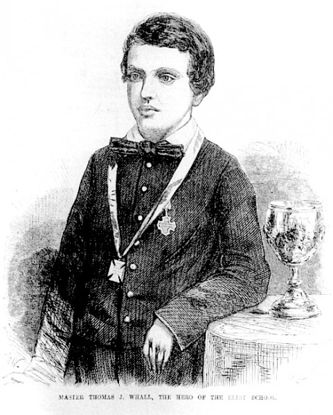 Thomas Whall with Goblet and Medals