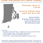 Resiliency in Rhode Island: a panel discussion on climate change