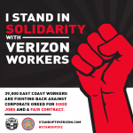 Video of Warwick rally for Verizon workers