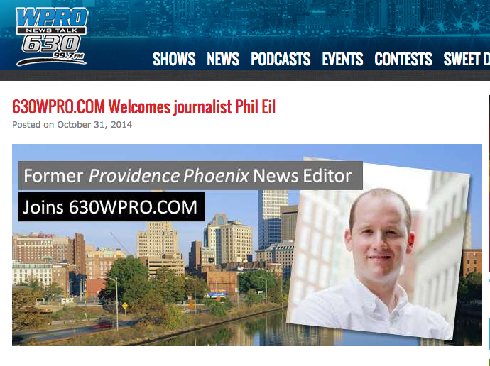 WPRO Welcomes Phil Eil