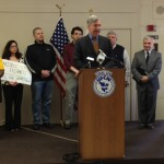 Sen Whitehouse at a recent rally for the Buffett Rule. (Photo courtesy of Whitehouse office)