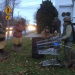 The nativity scene outside of the Amicable Congregational Church in Tiverton.