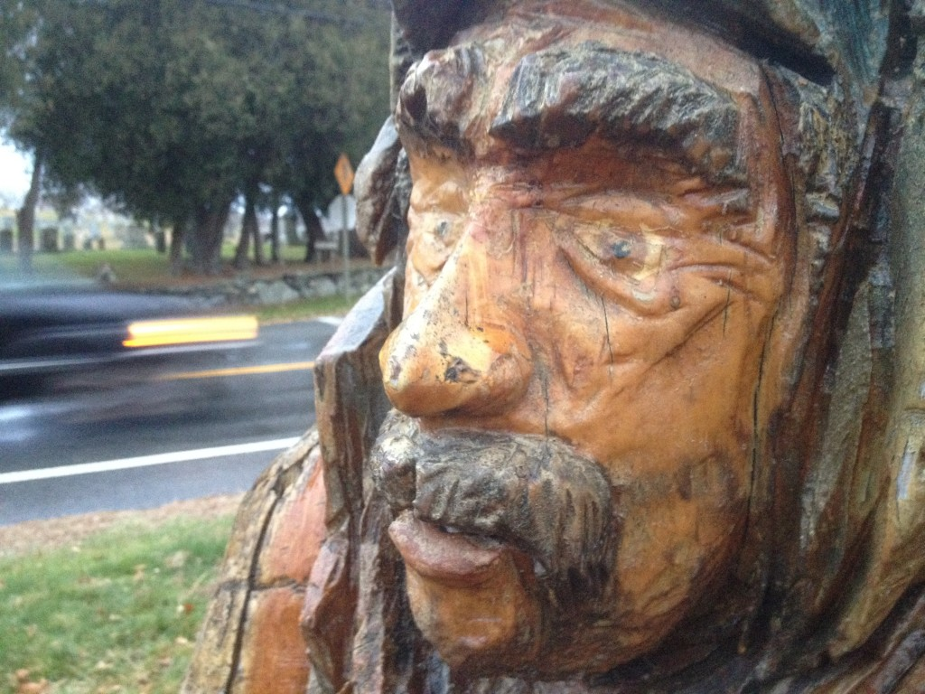 Jose, carved with a chainsaw by Michael Higgins. (Photo by Bob Plain)