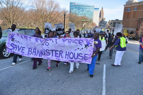 Click on the photo for more pictures from the march to save Bannister House.