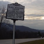 Black Mountain College highway marker, circa 2005.