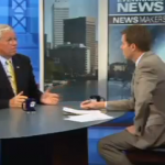 Former Governor Don Carcieri being interviewed by WPRI's Tim White in an exclusive interview. (Screen shot courtesy of WPRI)