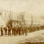 Union men on parade before the strike in Victor, Colorado, 1894. (Image courtesy of the Cripple Creek District Museum, made available via Heritage West)