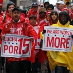 RI fast food workers fight for $15