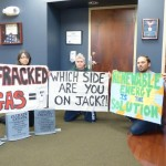 Pipeline protesters arrested at Senator Reed's office