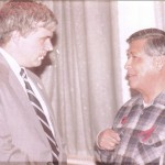 A younger George Nee with his friend labor and civil rights leader Cesar Chavez.