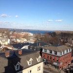 You can see Warwick from the top of EG Town Hall but the two have not been able to work out regionalized fire dispatch after three years of working on it. (Photo by Bob Plain)