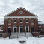 Harrington Hall, after being dug out of the snow.