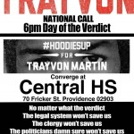 Hoodies up from Trayvon, today at 6 pm Central High