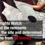 What US company made the bomb that killed 97 civilians in Yemen?