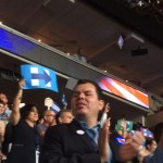 RI Delegation celebrates historic roll call vote at Democratic National Convention in Philly.