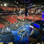 The Wells Fargo Center on the eve of the Democratic National Convention