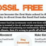 Fossil Free RI pushes URI to divest from fossil fuel industry
