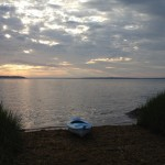 Before an early morning kayak trip on Narragansett Bay.