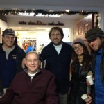From left to right: Tom Sgouros, Jim Langevin, Bob Plain. Kristen Howard, some guy from New York. (Photo by Seth Klaiman)