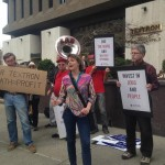 Peace activists call attention to Textron cluster bombs