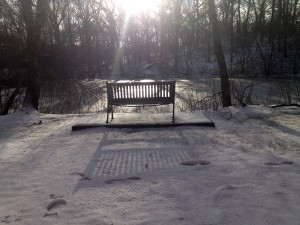 mill pond bench