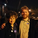Lauren Niedel, Democratic Party Committee member of Burrillville, and Abel Collins, a South Kingstown town councilor.