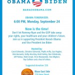 Obama Fundraiser Tonight at Blaze