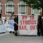 Occupy, Dems and GOPers protest 38 Studios today