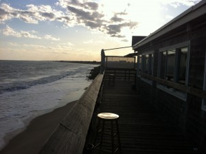 The deck at the Ocean Mist just keeps getting closer and closer to the water. (photo by Bob Plain)