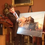 Rep. O'Grady illustraes his point with a picture of 63 Kossuth St.