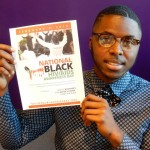 Providence's Gilbert Augustave, AIDS Project RI employee and New England Tech student, helps to spread the word about the importance of getting educated, tested, involved and treated.
