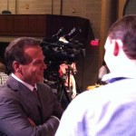 Rep. David Cicilline cracks a smile as he takes questions from the press.