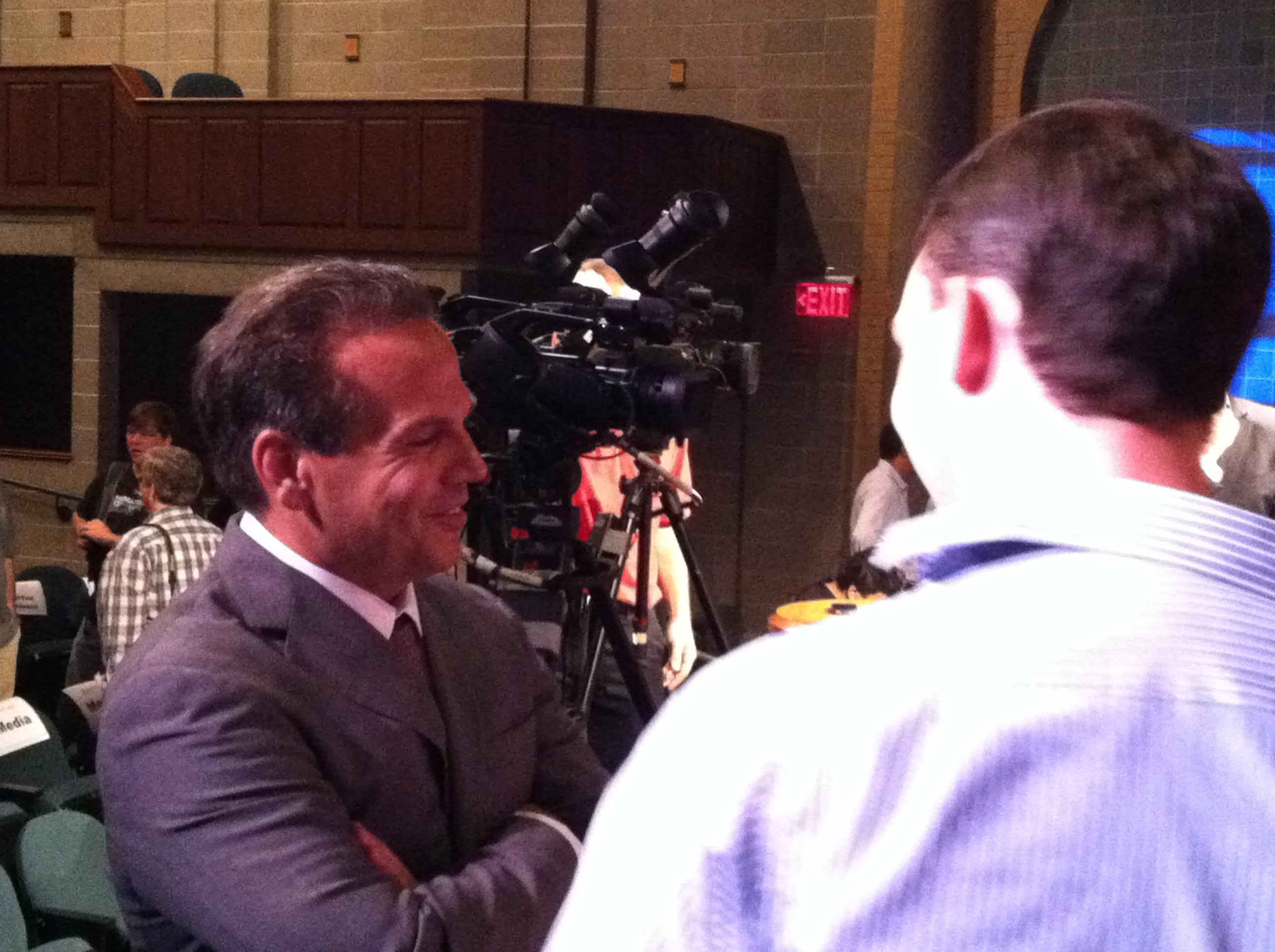 Cicilline Interviewed At WPRI Debate