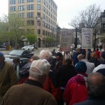 ProJo employees protest corporate greed, shrinking newsroom