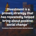PVD mulls divesting $10 million from fossil fuel co's