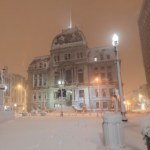 Downtown Providence During The Blizzard