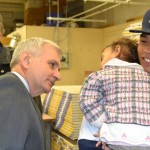 Sen Jack Reed engages with Rhode Island's future during a recent event at Building Futures, an initiative of the Prov Plan.
