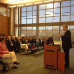 Sen Sheldon Whitehouse at RIC for a meeting of the RI Healthcare Exchange Commission.