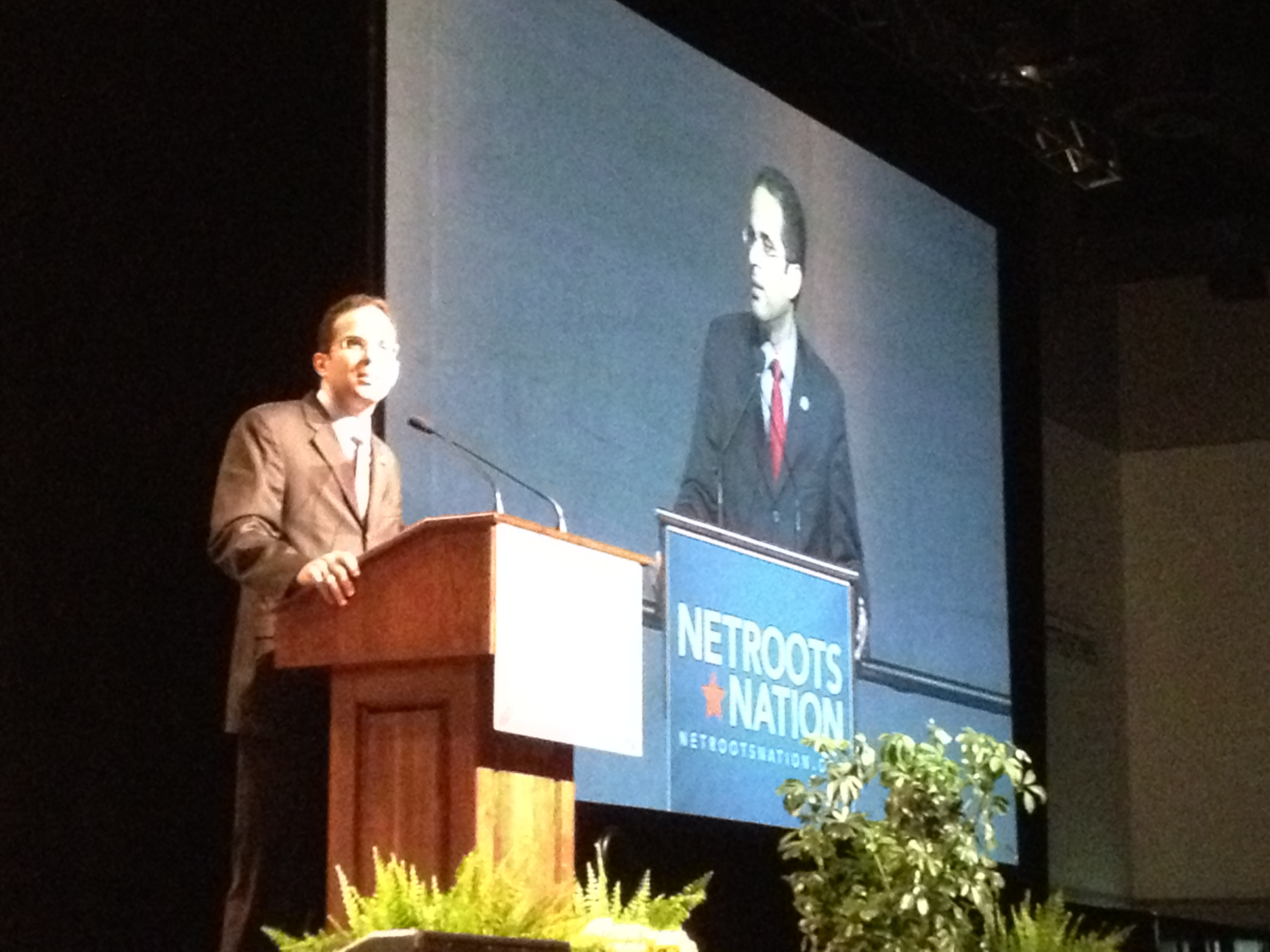 Providence Mayor Angel Taveras at Netroots Nation. (Photo by Bob Plain)