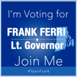 Progressive left unified only in support of Frank Ferri for lt. gov